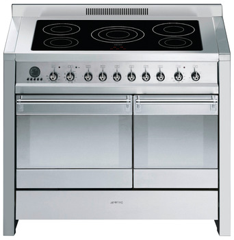 Cooker, Electric Induction, Pyrolitic Dual Cavity Cooker with Multifunction Oven, 1000 mm, Smeg Opera