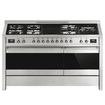Cooker, Gas, Dual Cavity with Electric Griddle, 1500 mm, Smeg Opera