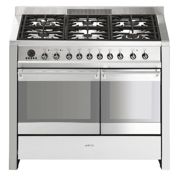 Cooker, Gas, Pyrolitic Dual Cavity Cooker with Multifunction Oven, 1000 mm, Smeg Opera