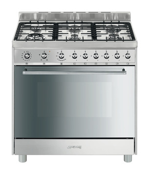Cooker , Gas, Single Cavity, 900 mm, Smeg Symphony