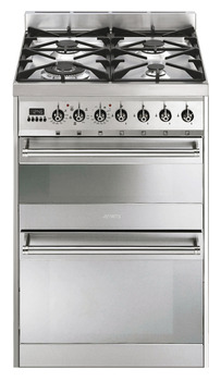 Cooker, Gas, with Double Oven, 600 mm, Smeg Symphony