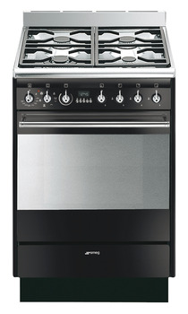 Cooker, Gas, with Multifunction Oven, 7 Functions, 600 mm, Smeg Concert