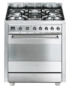 Cooker, Gas, with Pyrolitic Multifunction Oven, Finger Friendly, 700 mm, Smeg