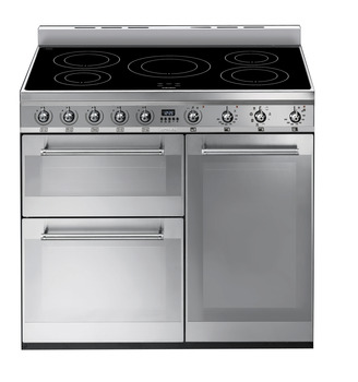 Cooker, Three Cavity, Electric Induction 900 mm, Smeg, Symphony