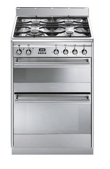 Cooker, with Double Oven, Gas 600 mm, Smeg Concert