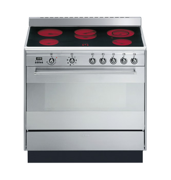 Cooker, with Multifunction Oven, Electric Ceramic, 900 mm, Smeg Concert