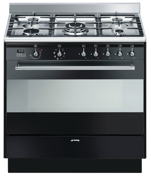 Cooker, with Multifunction Oven, Gas Hob, 900 mm, Smeg Concert
