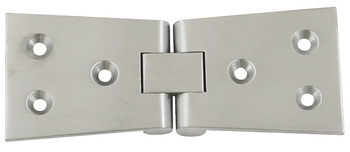 Counter Flap Hinge, 102 x 38 mm, Brass with Brass Pin