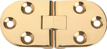 Counter Flap Hinge, Brass, 75 x 34 mm