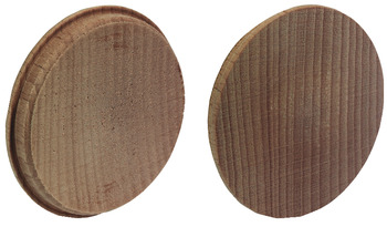 Cover Cap, for Ø 35 mm Hole, Press-Fit, Solid Wood