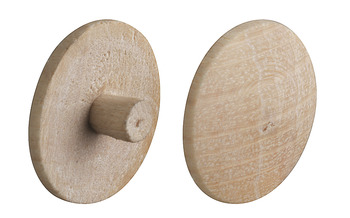 Cover Cap, for Screws, Press-Fit, Solid Wood