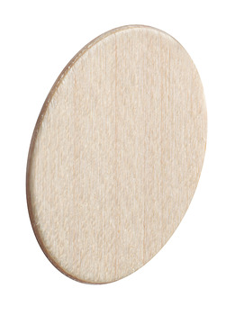 Cover Cap, Real wood, untreated, self-adhesive, Ø 14 mm