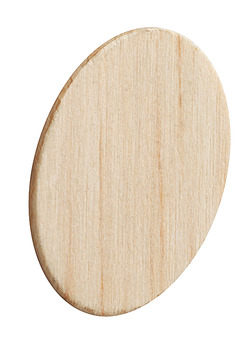 Cover Cap, Real Wood, Untreated, Self-Adhesive, Ø 18 mm