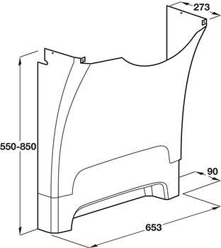 Cover, for Adjustable Washbasin Legs
