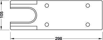 Cover Plate, for Geze TS 500 NV Floor Spring