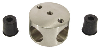 Cross Connector, 303 Stainless Steel Cubicle Fittings, PBA