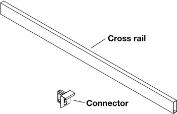 Cross Rail, for Vionaro Drawer Systems