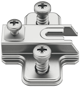 Cruciform Mounting Plate, Combi, for Slide On Metalla A Concealed Hinge, Steel