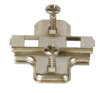 Cruciform Mounting Plate, for Clip On Hinges, Two Part Plate