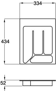 Cutlery Insert, Length 434 mm, Plastic