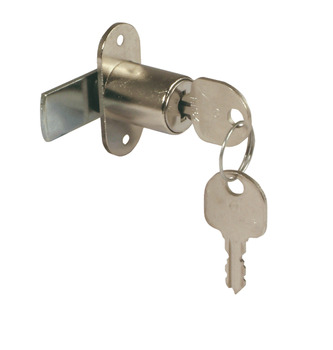 Cylinder Cam Lock, without Key Trap, Ø 18 mm Cylinder