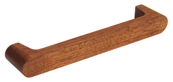 D Pull Handle, Walnut, Fixing Centres 160 mm, Contact