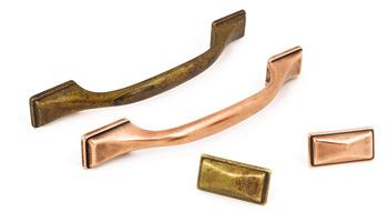 D Pull Handle, Zinc Alloy, Fixing Centres 128 mm, Shapes