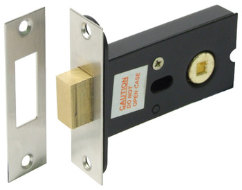 Deadbolt, Mortice, Bathroom, Deadbolt Operated by Turn/Emergency Release, Backset 59 mm
