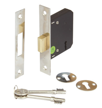 Deadlock, Mortice, 3 Lever, Deadbolt Operated by Key
