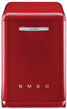 Dishwasher, Freestanding, 600 mm, Smeg 50'S Retro Style