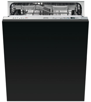 Dishwasher, Fully Integrated with Press & Release Handle-Less Door Design, 600 mm, Smeg