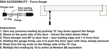 Door Force Gauge, to Test if Self Closing Door is DDA Compliant, Steel