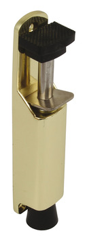 Door Holder, Foot Operated, Max. Throw 34 mm, Zinc Alloy, Steel and Rubber