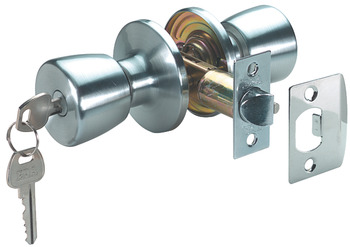 Door Knob Set, Entrance Lock, Steel
