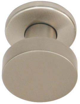 Door Knobs, Set, on Round Roses, Ø 55 mm, 304 Stainless Steel, FSB 0829