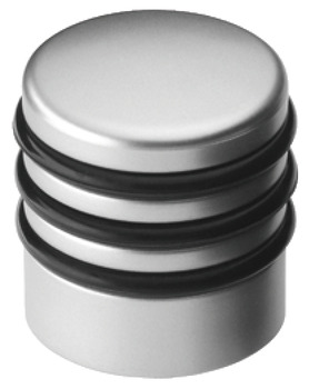 Door Stop, Height 31 mm, Overall Ø 28 mm, Plastic with Rubber Rings