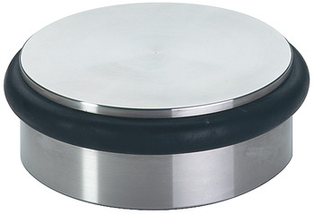Door Stop, Puck, Floor Mounted, Ø 92 x 34 mm, Stainless Steel