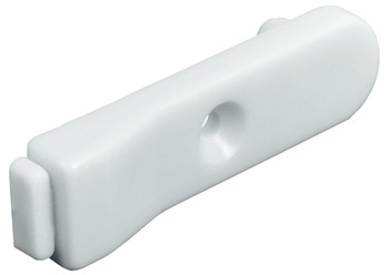 Door Stop, with One Dowel, Plastic with PVC Buffer