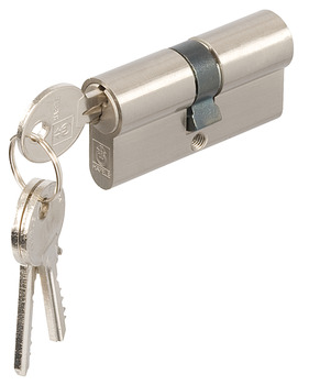 Double Cylinders, Key Only, Both Sides, 5 Pin, Brass