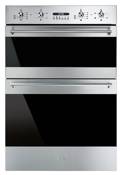 Double Oven, Multifunction, 4 functions, 600 mm, Smeg Classic