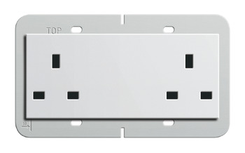 Double Socket Outlet, 13A , Standard, with Switch or with Switch and Neon Lights, Gira
