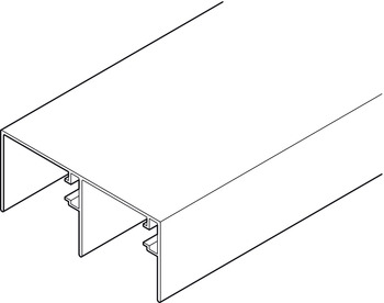 Double Upper Track, for Sliding Interior Doors, Junior-6 INDAmatic