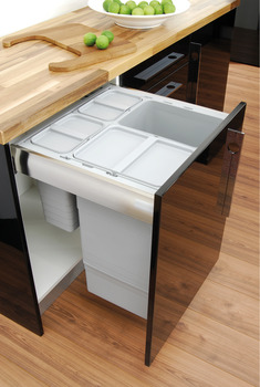 Drawer Box Waste Bin, for Door Front Mounting, One2Five System, Ninka