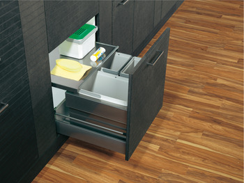 Drawer Box Waste Bin, for Door Front Mounting, Vauth Sagel VS ENVI Flex