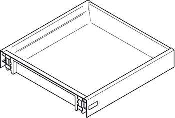 Drawer, Moulded Plastic, Depth 430 mm, for Dynamic Runners
