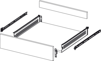 Drawer Set, 118 mm High, Indaux, Supra-118