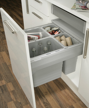 Drawer Waste Bin System, One2Five, for MX Drawers, Ninka