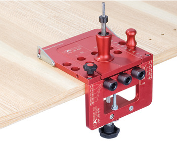 Drill Guide Set, Red Jig Supplement for Concealed Hinges Ø 35mm / 48/6mm