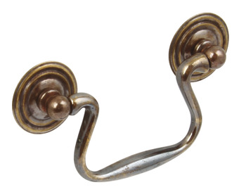 Drop Handle, Brass, Fixing Centres 64-76 mm