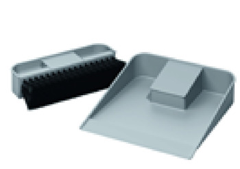 Dust Pan and Brush, Grey Plastic, Ninka One2Top